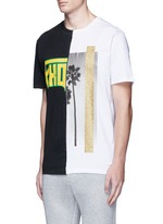 'ExoPalms' hybrid print T-shirt