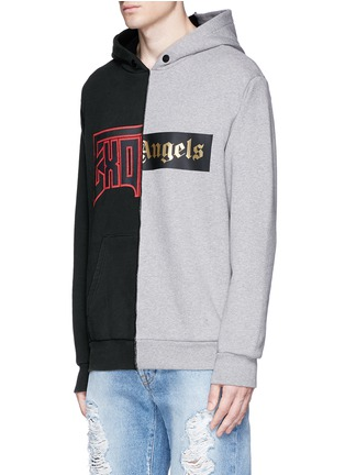 Front View - Click To Enlarge - Palm Angels - 'Exoangels' hybrid print hoodie