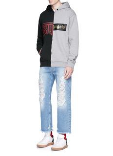 Palm Angels'Exoangels' hybrid print hoodie