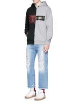 'Exoangels' hybrid print hoodie