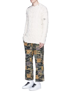Palm Angels Camouflage print patchwork pants