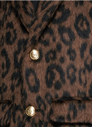 Detail View - Click To Enlarge - Palm Angels - Leopard print mohair blend coat