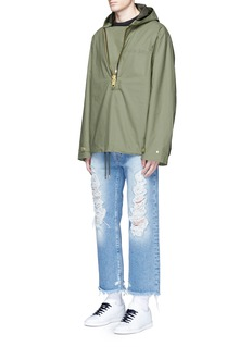 Palm Angels Oversized hooded military anorak
