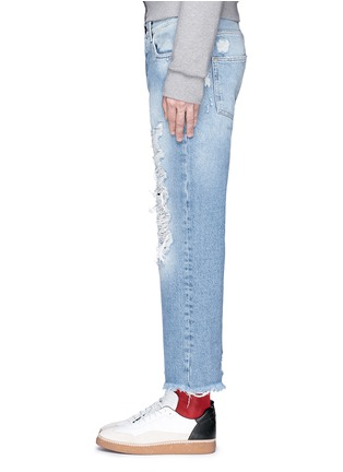 Detail View - Click To Enlarge - Palm Angels - Vintage wash cropped ripped jeans