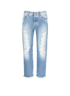 Palm Angels Vintage wash cropped ripped jeans