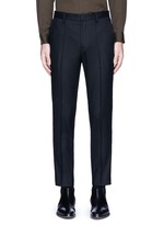 Piped waist wool pants