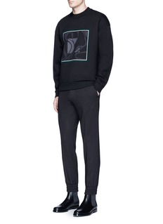 WooyoungmiSquare print neoprene sweatshirt