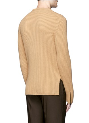 Back View - Click To Enlarge - Wooyoungmi - Zip cuff side split sweater