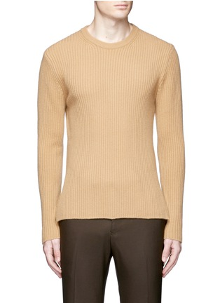 Main View - Click To Enlarge - Wooyoungmi - Zip cuff side split sweater