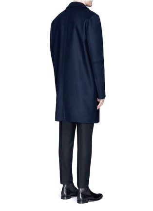Back View - Click To Enlarge - Wooyoungmi - Piped sleeve balmacaan coat