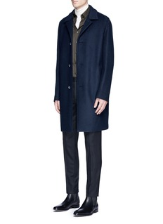 WooyoungmiPiped sleeve balmacaan coat