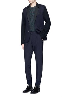 Wooyoungmi Pleated front wool blend jogging pants
