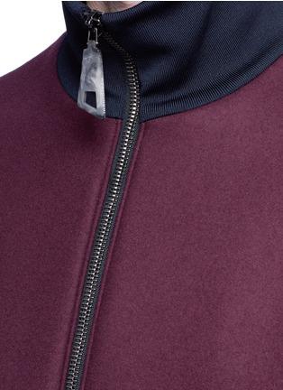Detail View - Click To Enlarge - Wooyoungmi - Jersey collar bonded wool bomber jacket