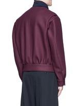 Jersey collar bonded wool bomber jacket