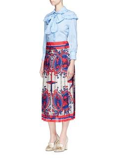 Gucci Carillon print pleat jacquard skirt