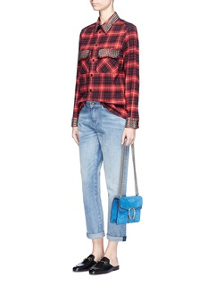 Gucci Stud check cotton flannel shirt