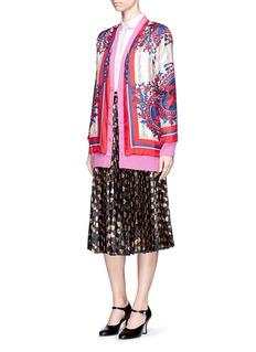 Gucci Reversible carillon print oversize knit cardigan