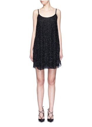 Main View - Click To Enlarge - alice + olivia - 'Rhi' beaded sheer strappy dress
