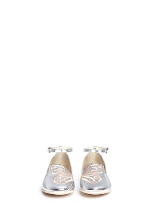 Figure View - Click To Enlarge - Sophia Webster - 'Bibi Butterfly' embroidery mirror leather toddler ballerina flats
