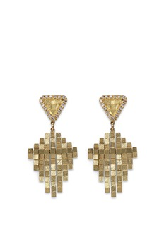 Jo Hayes Ward 'Kite Stratus Rain Drop' diamond 18k yellow gold earrings