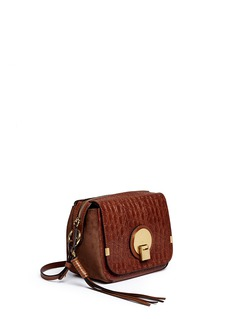 CHLOÉ'Indy' croc embossed leather camera bag