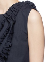 'Clara Bis' ruffle pinstripe cotton-wool sleeveless top