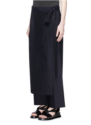 Dries Van Noten - 'Patra' wrap apron cotton-silk pants