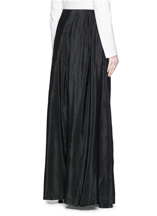 Back View - Click To Enlarge - Dries Van Noten - 'Pedra' skirt wrap cotton-silk pants