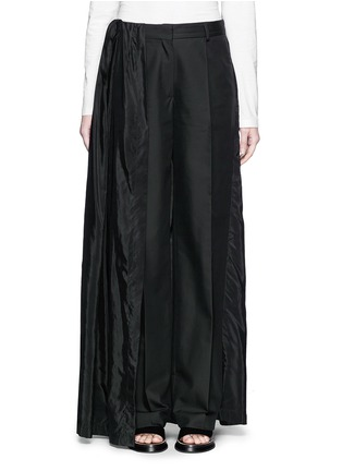 Main View - Click To Enlarge - Dries Van Noten - 'Pedra' skirt wrap cotton-silk pants
