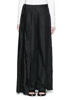 'Pedra' skirt wrap cotton-silk pants