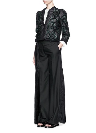 Figure View - Click To Enlarge - Dries Van Noten - 'Pedra' skirt wrap cotton-silk pants
