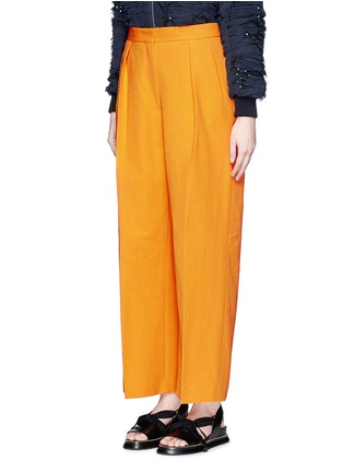 Front View - Click To Enlarge - Dries Van Noten - 'Pranis' cotton blend pants