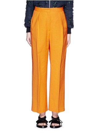 Main View - Click To Enlarge - Dries Van Noten - 'Pranis' cotton blend pants
