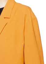 'Romance' faille cropped sleeve coat
