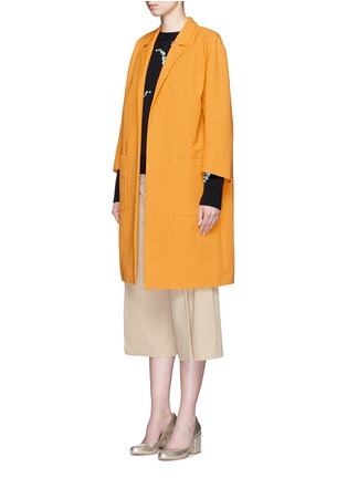Front View - Click To Enlarge - Dries Van Noten - 'Romance' faille cropped sleeve coat