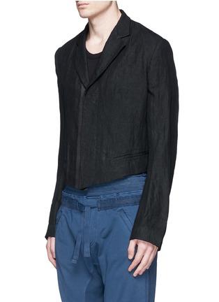 正面 -点击放大 - HAIDER ACKERMANN - 短款设计亚麻外套