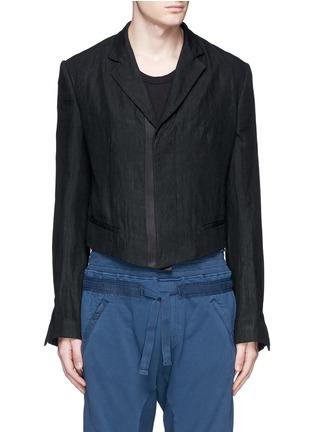首图 - 点击放大 - HAIDER ACKERMANN - 短款设计亚麻外套