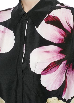 Detail View - Click To Enlarge - Equipment - 'Kerry Dress' floral print silk dress