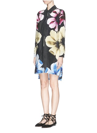Front View - Click To Enlarge - Equipment - 'Kerry Dress' floral print silk dress