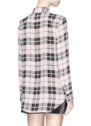 Back View - Click To Enlarge - Equipment - 'Reese' plaid check silk shirt