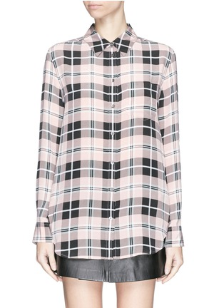Main View - Click To Enlarge - Equipment - 'Reese' plaid check silk shirt
