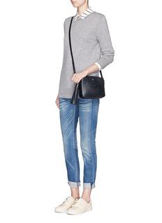 RAG & BONE/JEAN'Leanna' contrast seam sweater
