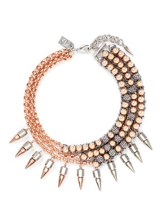 Main View - Click To Enlarge - AMANDA MOUNSER - 'Moonage Daydream' spike curb chain collar necklace