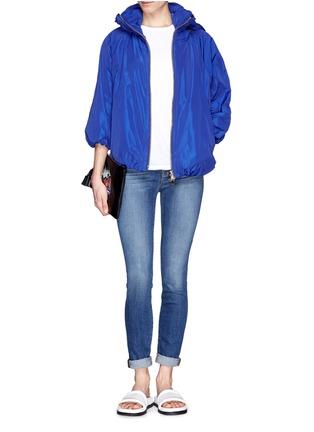 模特儿示范图 - 点击放大 - MONCLER - 泡泡袖运动外套