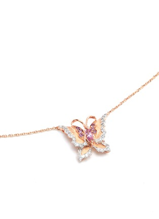 Figure View - Click To Enlarge - Bao Bao Wan - 'Little Butterfly' 18k gold diamond necklace