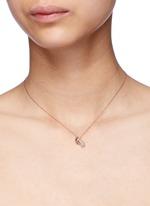 'Little Baby Bottle' 18k gold diamond pearl necklace