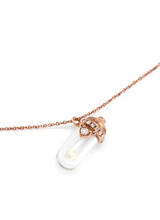 Bao Bao Wan 'Little Baby Bottle' 18k gold diamond pearl necklace