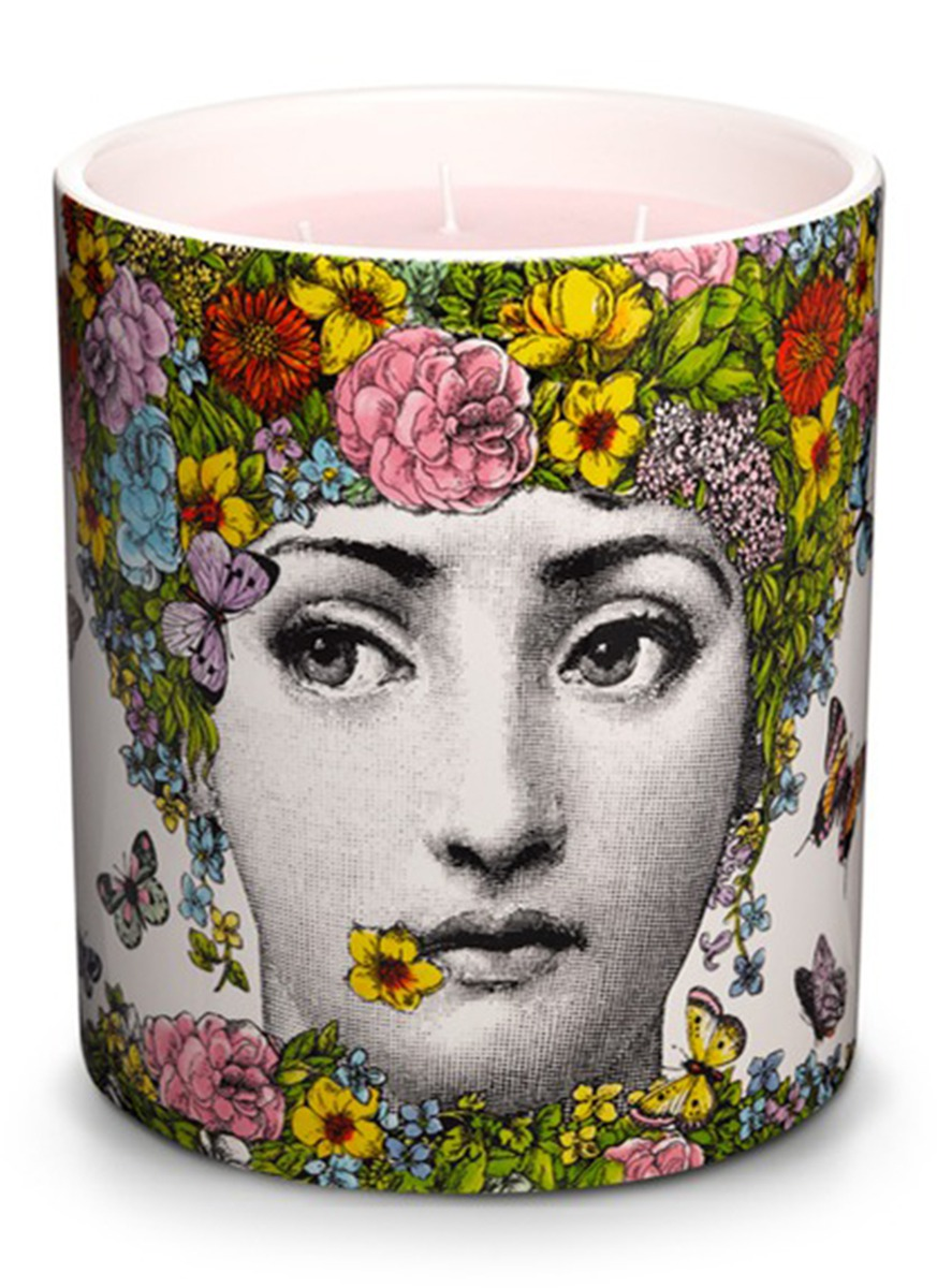 Flora large scented candle by Fornasetti