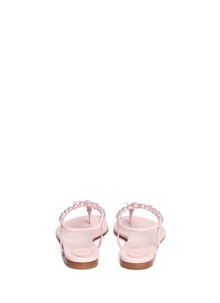 Back View - Click To Enlarge - René Caovilla - Pearl T-strap flat sandals