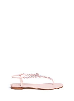 Main View - Click To Enlarge - René Caovilla - Pearl T-strap flat sandals